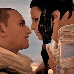 艾雅正要热情地亲吻巴耶克