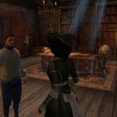 热拉尔德向艾芙琳介绍他们的新据点