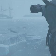 Connor aperçoit l'<i>Octavius</i> piégé dans la glace