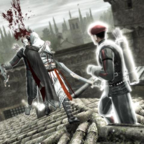 Ezio affrontant les deux derniers archers