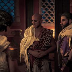 Pasherenptah se présentant à Bayek et Aya