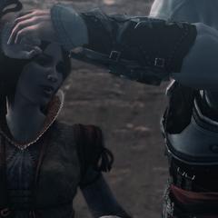 Ezio et <b>Cristina</b> dansant au Carnaval