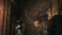 Ezio and Leonardo talking about the Flying Maschine