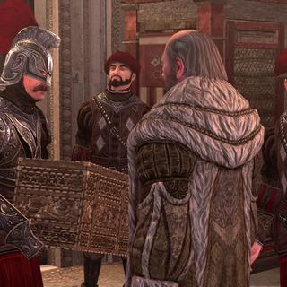 Luigi recevant l'argent d'Edigio Troche devant le Panthéon