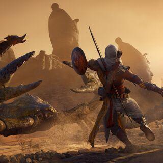 巴耶克在赫卜赛德与巨蝎战斗