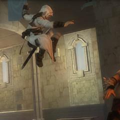 Altaïr tentant d'assassiner <b>Moloch</b>