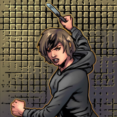加林娜使用飞刀
