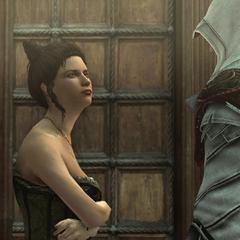 Ezio bespreekt de verblijfplaats van madam Solari