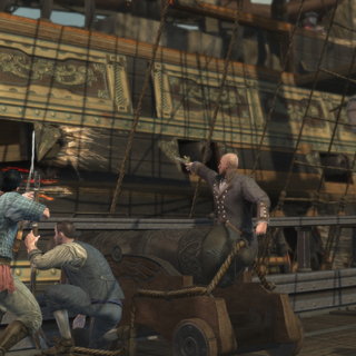 戴维和其他船员登船