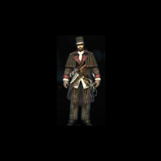 Le Costume de Fossoyeur pour Victor Wolcott.