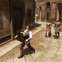 Ezio rapportant les tableaux au Palazzo
