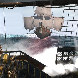 <i>寒鸦号</i>朝西班牙双桅横帆船开火