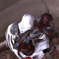 Ezio éliminant l'un des gardes