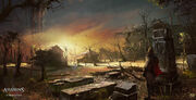 ASSASSIN'S CREED 3 - LIBERATION . Smugglers area. Cemetery by nachoyague