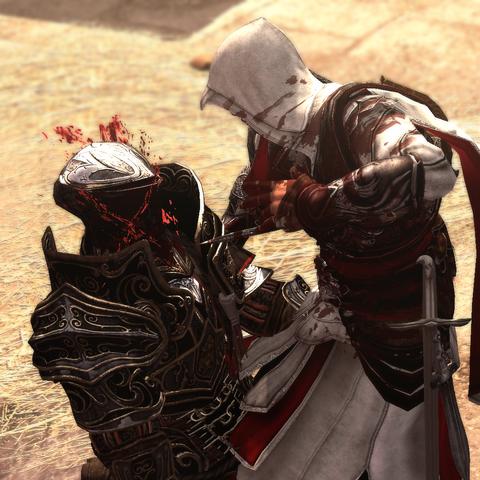 Ezio assassinant un autre interrogateur
