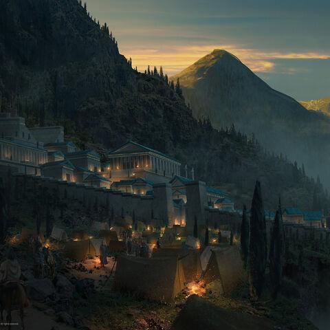 福基斯德尔菲圣殿的原设图