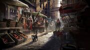ACS Alley Market - Concept Art