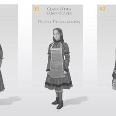 克莱拉的早期概念设计图