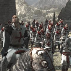 Robert de Sablé and his Templar army in Masyaf