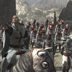 Robert de Sablé and his Templar army in Masyaf