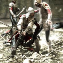 Ezio vecht tegen de Pazzi-wachters.