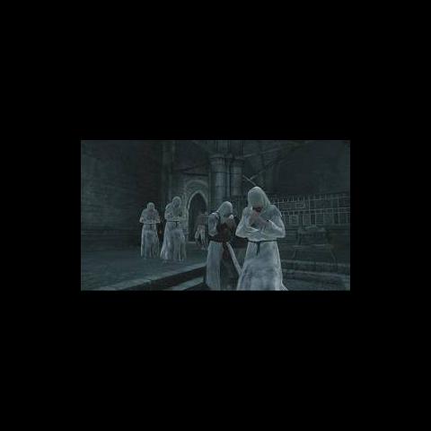 Altair taucht zwischen Gelehrten unter