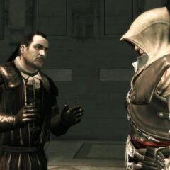 马里奥在圣堂中与埃齐奥对话