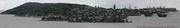 Boston panoramic matte painting by Gilles beloeil