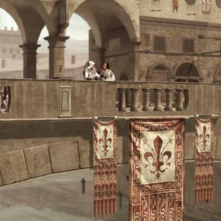 Ezio et Lorenzo sur le Ponte Vecchio