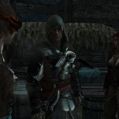 <b>Rhona</b>, Anne et Edward devant le bureau