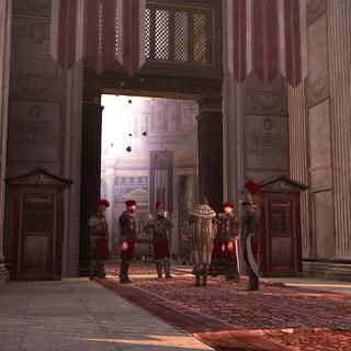 埃吉迪奥和卫兵在万神殿前
