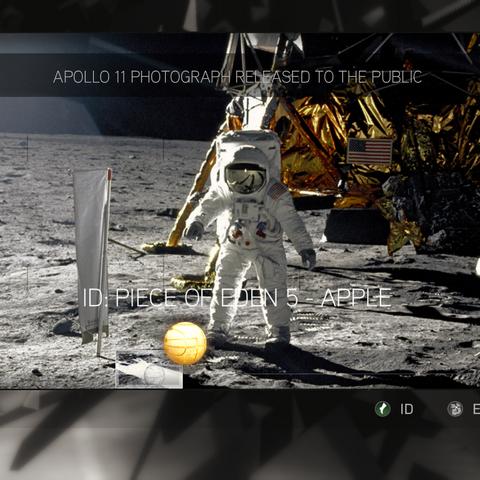 阿波罗11号在月球执行回收伊甸苹果的任务
