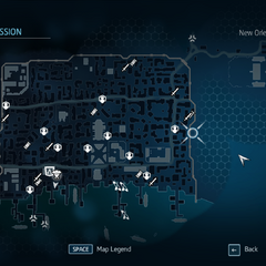 In-game map of New Orleans