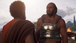 Debt Collector - Markos threatened - Assassins Creed Odyssey
