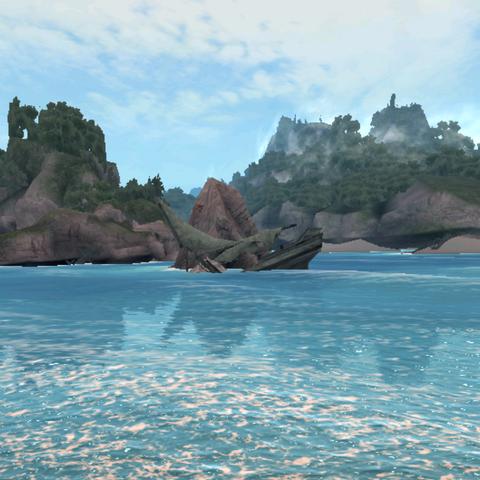 哈伯岛的岩石水域