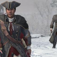 冬季,海尔森和查尔斯在开拓地
