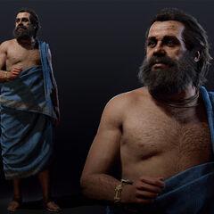蘇格拉底全身的模型