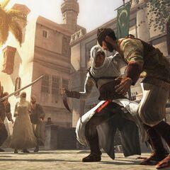 Altaïr affrontant des <a href=