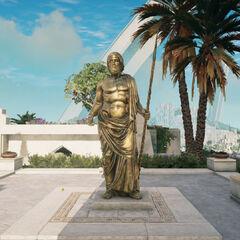 亚特兰蒂斯的波塞冬雕像
