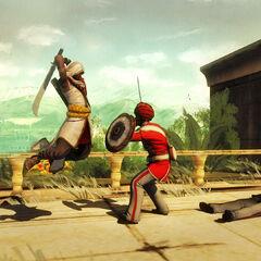 阿尔巴兹·米尔攻击一名守卫