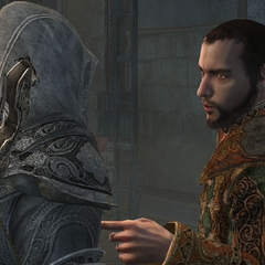 Ahmet speaking to Ezio