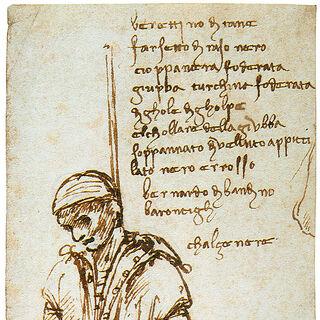 真实历史中,达·芬奇绘制的真实的吊死的贝尔纳多