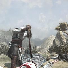 Altaïr achevant un Templier