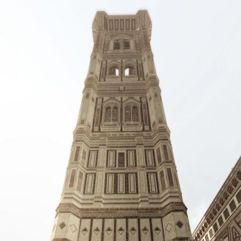 地面上看到的乔托钟楼