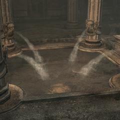L'eau s'écoulant de la fontaine