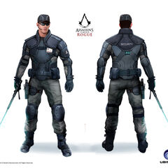 Concept art of an Abstergo security guard