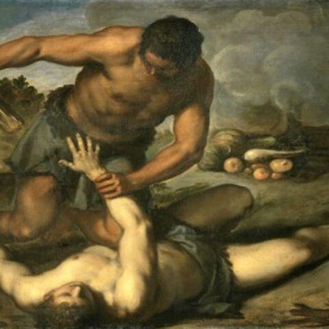 Kain erschlägt Abel gemäß der Bibel