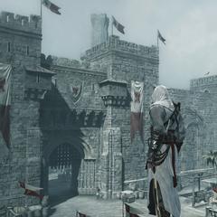 阿泰尔面对城墙