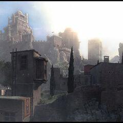 A panoramic view of Masyaf