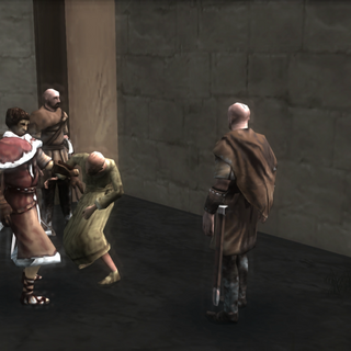 Shalim and his men harassing a citizen
